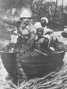 Verslaggever Henry Morton Stanley op zoek naar ontdekkingsreiziger dr. Livingstone