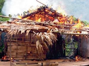 hut karen in brand