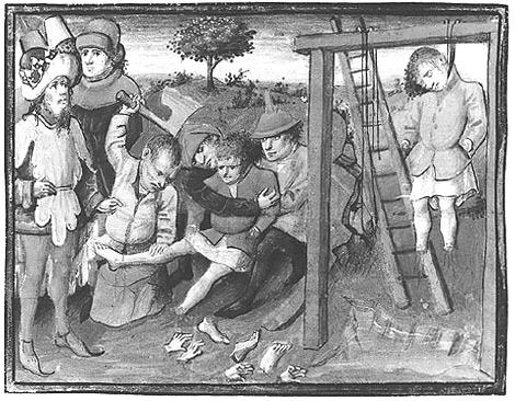Lijfstraffen in de middeleeuwen