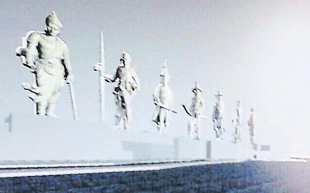 Monument 7 koningen artist's impression