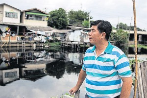 Khlong clean-up Somchai Jinprayun