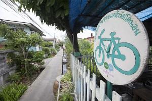 Fietsen in Wat Kho Non 2