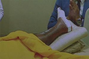 Abt Dhammachayo Geïnfecteerde voet