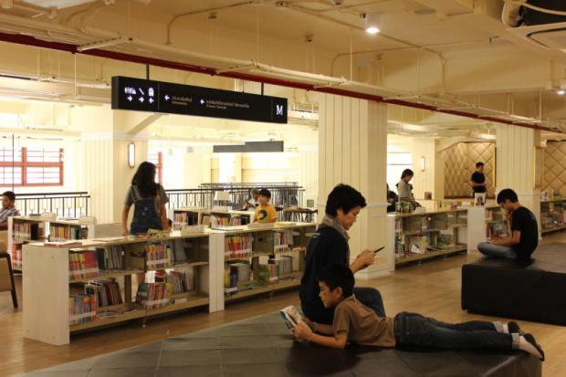 Bangkok City Library boekenkasten