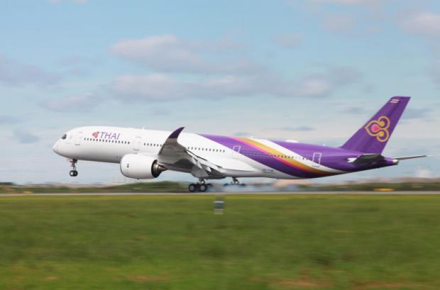 De nieuwe A350 XWB van THAI