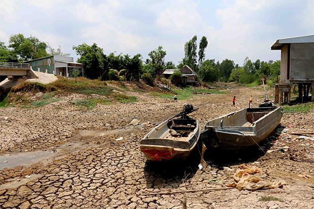 Droogte Ca Mau in Vietnam 18 april