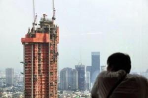 Flat in aanbouw op de oever van de Chao Phraya