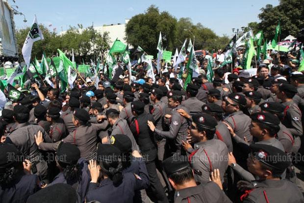 Government House Protest tegen kolencentrale