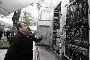 Inspectie uitbreiding netwerk op Sanam Luang