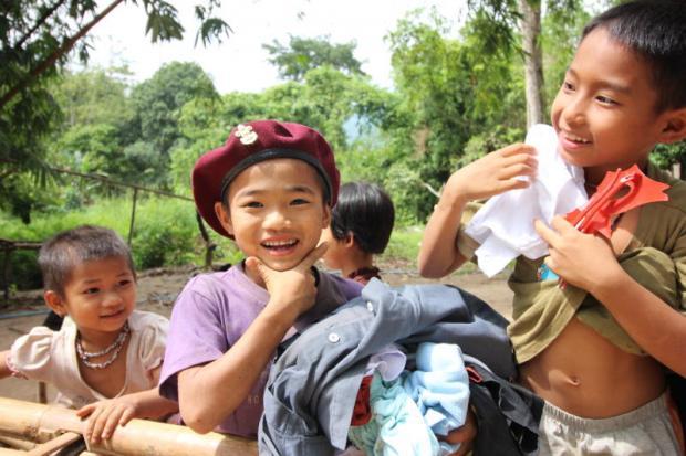 Jungle aid lachende kinderen