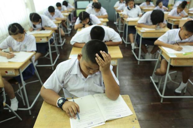Leerlingen maken examen