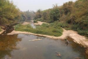 Loei rivier in het droge seizoen