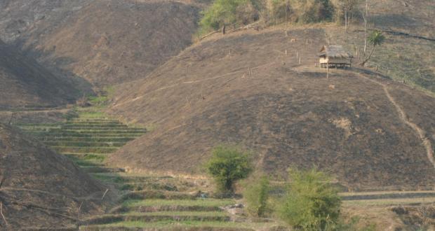 Nan Watershed Conservation Fund In 2006 veranderen hellingen in modderrivieren.