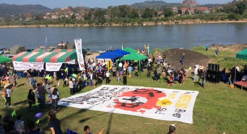 Protest tegen opblazen rotseilandjes in Mekong