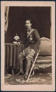 Rama V als jongeman, 1874