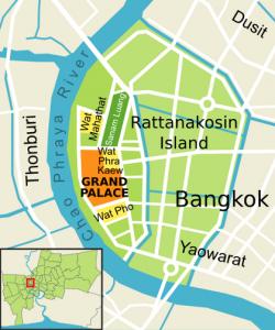 Rattanakosin Island kaartje