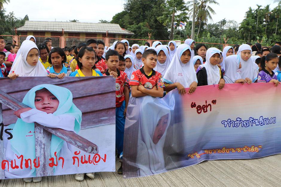 Rueso (Narathiwat) protest tegen geweld
