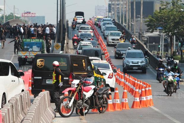 Thai-Belgian flyover deels heropend
