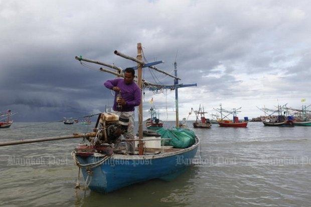 Traditionele visserij in Ban Kao Tao (Hua Hin)