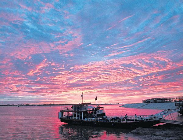 Veerboot op de Mekong