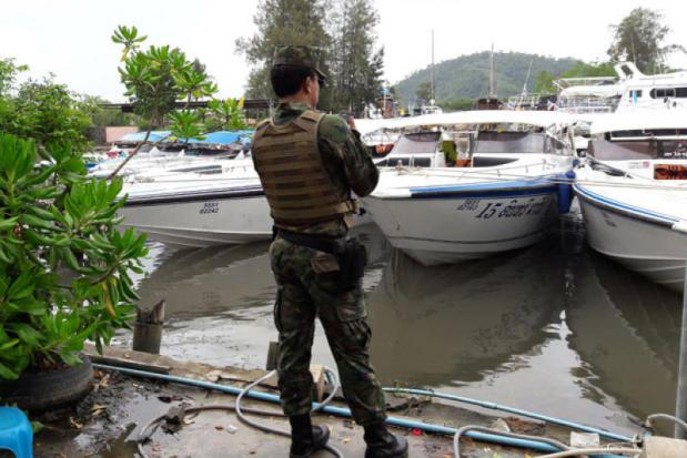 Veiling geconfisqueerde boten van Tranlee Travel in Phuket