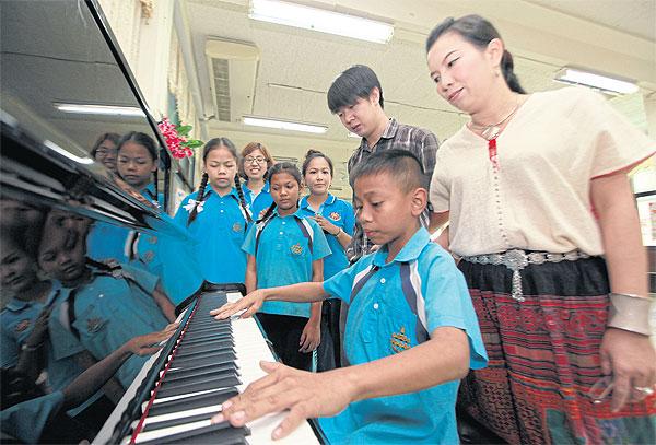 Leerling van de Wat Ratchanatda school