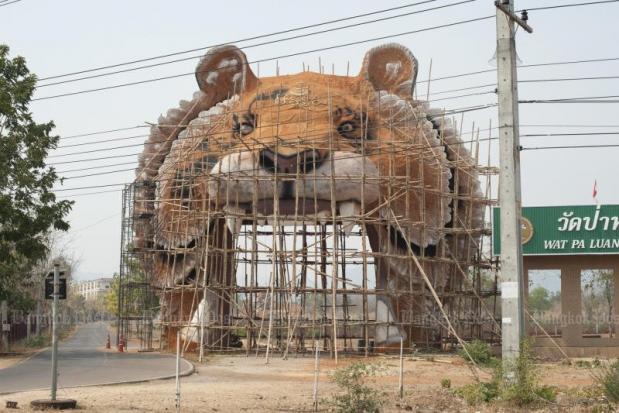Dierentuin tijgertempel aan in aanbouw