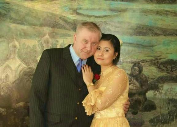 Pimsiri Song-ngam en Noorse echtgenoot in betere dagen
