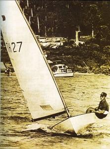 Bhumibol in zijn zeilboot