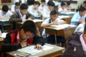Leerlingen makan O-Net examen