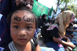 Protest tegen kolencentrala