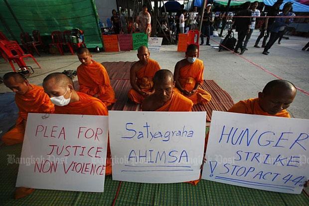 Wat Phra Dhammakaya hongerstaking van monniken