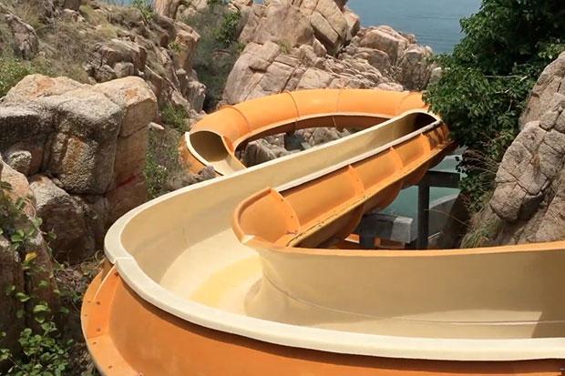 Sai Daeng Resort Koh Tao illegale waterglijbaan