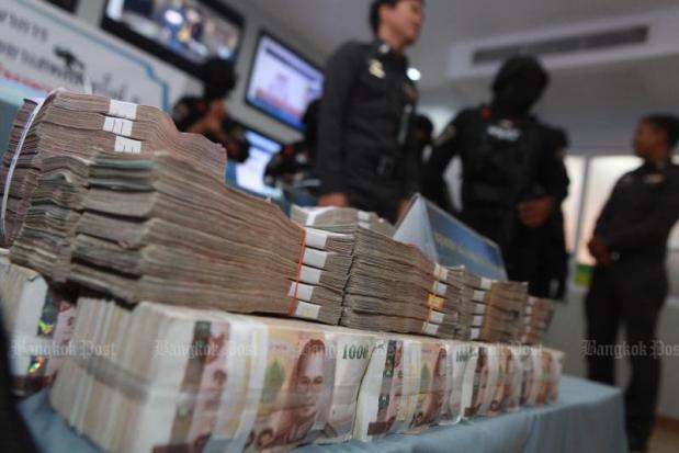 30 miljoen baht in beslag genomen van vier verdachten