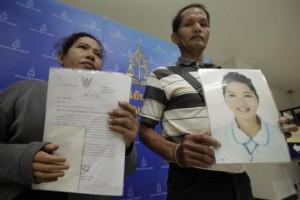 Het was moord, geen suïcide, zeggen de ouders van Natnaree