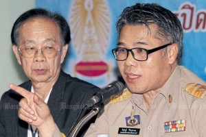 Phichet Wiriyapaha, right, deputy chief of the Cooperative Promotion Department,