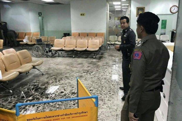 Wachtkamer waarin de bom ontplofte