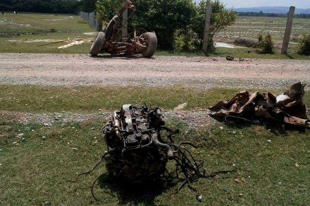 Bomaanslag op pickup truck in Thung Yang Daeng Pattani