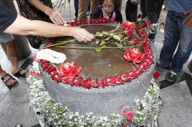 Herdenking van de Siam revolutie op Thammasat