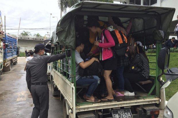 Migranten terug naar huis