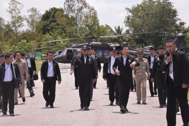 Prayut arriveert in Sa Kaeo