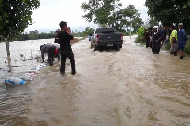 Wateroverlast in Si Sa Ket