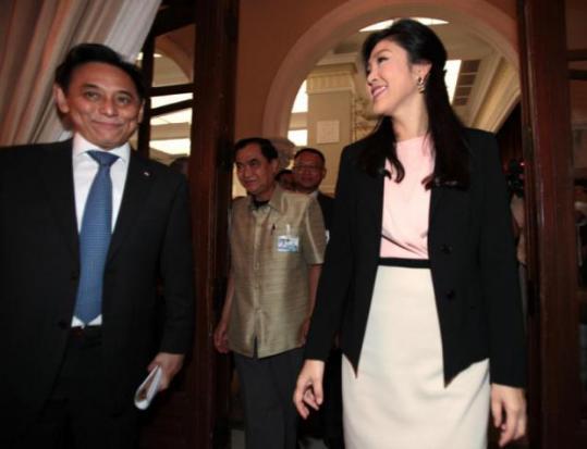 Yingluck en Boonsong (archieffoto 2013)