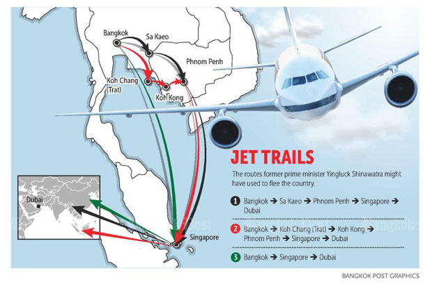 Yingluck Jet trails