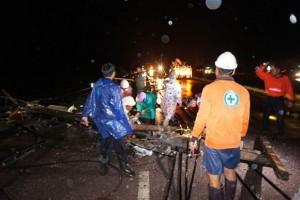 Elektriciteit valt uit in Nakhon Phanom door Doksuri