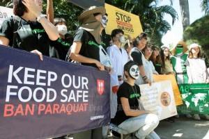 Protest tegen paraquat