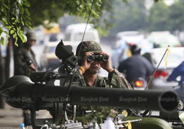 Soldaat op wacht, drie dagen na de coup op 19 sept 2016