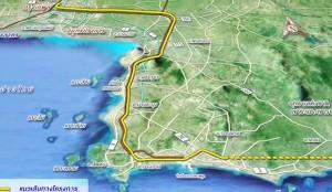 Voorgesteld route tussen de drie luchthavens