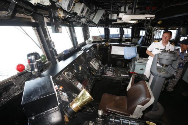 Brug van het Australische fregat HMAS Melbourne