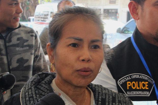 Jomsap zaterdag na haar arrestatie